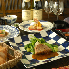 <フルコースB>創作和フレンチの定番コースプラン【お肉&お魚を味わう】