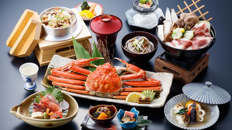 【秋冬の味わい】まるごと一杯ずわい蟹姿盛り付!北陸の旬の味覚を贅沢に味わう