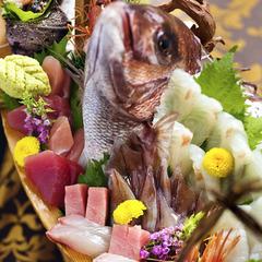 """【豪華★舟盛り会席】 """"選りすぐりの鮮魚満載""""盛り沢山 『きときと♪』を味わい尽くすならコレ"""