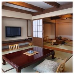 【1室限定】和の空間を3室揃えた囲炉裏だんらんルームプラン