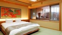 温泉露天風呂付洋室(個室会場食)【Qベッド】