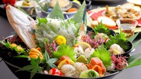 【夏限定/個室・部屋食】温泉と極み和風懐石料理、鮑の陶板焼き/国産黒毛和牛のステーキを満喫