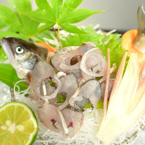 ≪夏季限定≫清流が育んだ香り高い鮎♪当館名物の「炭火山里料理」に「鮎の塩焼き&鮎のお造り」をプラス♪