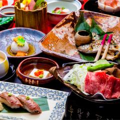 【朝ごはん2年連続日本一受賞記念】メインが選べる郷土料理会席《日本一の朝ごはん付き》