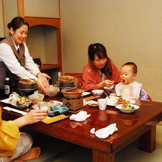 お子様歓迎【パパママ安心のお部屋食】家族に嬉しい特典付きファミリープラン