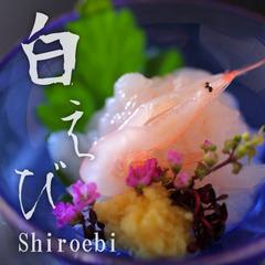 【富山湾の希少】富山湾でしか獲れない白えびを堪能する「白えび膳」。延楽白えび会席プラン