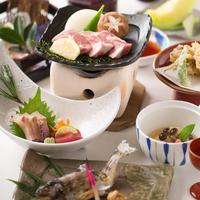 ご夕食は『風花会席』◆岡山県産ピーチポーク陶板&右手産山女魚塩焼きなど…◆天然温泉&朝食バイキング