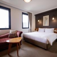 デラックスダブルルーム/全館禁煙:ホテル最上階の特別室