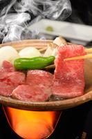 贅沢グルメプラン♪通常料理+倉石牛の陶板焼き