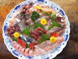 (海の幸がいっぱい)コースーグレードアップ(岩ガキ+焼き魚お刺身もグレードアツプ)