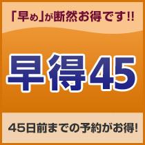 【ビジネスにおすすめ 早期割 45days】 〜45日前までのご予約がお得!〜