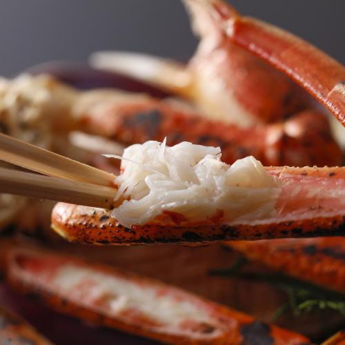 山陰の味覚【蟹1.5杯相当】蟹尽しグレードアップ料理長おまかせの懐石【浜茹ずわい蟹1杯★焼蟹等】