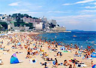 サンビーチまで徒歩10分! 海水浴満喫! 1泊2食バイキングプラン