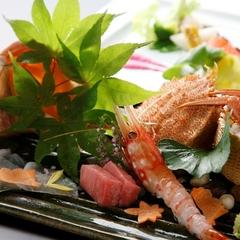 【ご夕食/和食懐石15,000円コース】脂ののった旬魚介や道産和牛に舌鼓