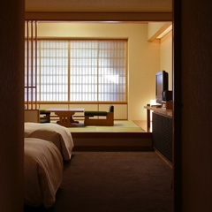 【和洋タイプ56平米】和と洋の寛ぎを重視したスタンダードな客室/和食懐石or鉄板焼