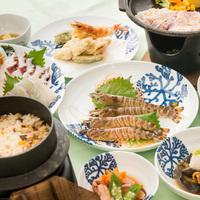 【冬季限定】天草大王と車えび料理の天草ならではの会席!