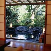 【山荘】[四季の間]天然温泉 露天風呂付客室「木犀」