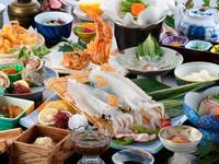 GoToトラベルキャンペーン ◆よぶこプラン◆イカ・鮑・サザエの造り・ あらかぶ唐揚げに鯛茶漬け!