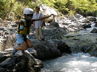 【ファミリー】【自然体験】南アルプスの清流で川遊びプラン