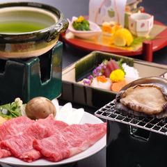 抹茶和牛しゃぶとアワビ酒蒸しプラン〜お好みで天城の生わさびを。≪現金特価≫