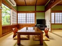 【由布岳】由布岳一望の一軒家風客室(6畳+6畳+縁側+庭)