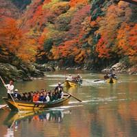 <保津川下り乗船場まで無料送迎あり!>いつもと違う京都旅をお楽しみください。【2食付】