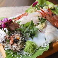 【山野草8種盛り】×【地魚の5種の筏盛り】丹後地魚と山野草の会席|さくらコース