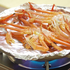 【越前蟹フルコース】名物蟹の丸焼・茹蟹・蟹刺しを満喫★