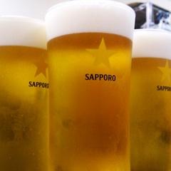 夏の定番です(^0^)〜90分生ビール飲み放題プラン〜
