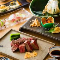 【夕朝食付】〜活オマール海老やフォアグラ、京都牛など全7品〜五感で感じる厳選素材の創作鉄板料理