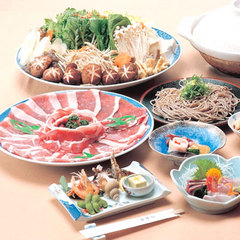 ≪鈍川名物 イノブタ鍋≫秋冬限定★温泉×鍋でほっこりあったまろ♪