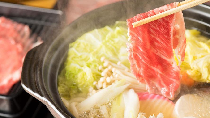 【グルメ】国産牛を堪能!赤城山麓牛のとろける旨味たっぷり!すき焼き鍋プラン