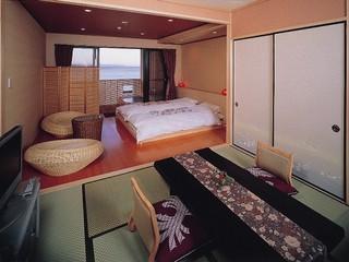 『白砂』海一望の露天風呂付き和洋室18畳現金特価