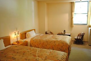 本館2階洋室ツイン ※冷暖房・テレビ・空の冷蔵庫・トイレ完備