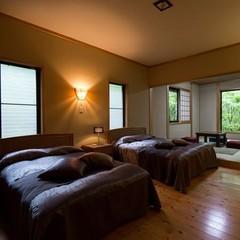 【和洋室】ツインベッドルーム+和室