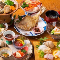【基本プラン】迷ったらこちら!地元・黒部の新鮮魚介×生地の郷土料理の「旬菜会席」