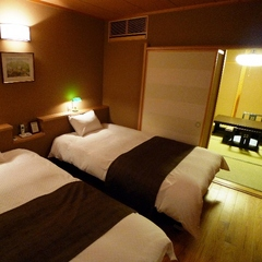 【庭園露天風呂付き特別室】10畳+ツインベッドルーム&床暖房付☆個室・お部屋食を選択可能☆