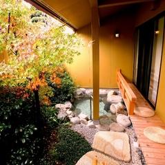 『庭園露天風呂付きでセレブなプライベートを♪』掘りごたつ&床暖房付☆個室・お部屋食を選択可能☆