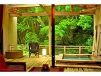 お部屋に2つの露天風呂 抹茶風呂も堪能できる 伊豆 旬彩 つりばし スタンダードプラン