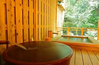 離れ客室 山水 2つの客室専用露天風呂付 客室