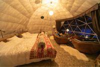 【せとうちグランピング】【ビーチBBQ】【1泊2食】ご宿泊は憧れのドームテントで!!