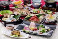 【春夏旅セール】【ゴールドコース】【1泊2食】鮑(あわび)の柔らか煮に蛸(たこ)焼きしゃぶ付プラン