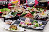 【ゴールドコース】【1泊2食】鮑(あわび)の柔らか煮に蛸(たこ)焼きしゃぶ付プラン