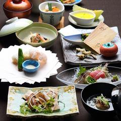 【会員特典3%OFF】【和食会席】天然温泉かけ流し黒い湯の華の舞う黒湯を愉しむ《二食付》