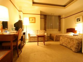 【喫煙】デラックスツイン★ベッド幅120cm+ソファベッド