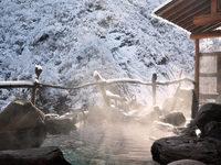 渓流沿いの貸切露天風呂は無料♪雪見露天と創作和食が好評(夕朝食付)