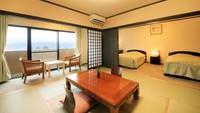 【禁煙】最上階和洋室(ツインルーム+和室8畳)