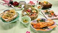 【季節の会席】春の味覚を楽しむ!季節の魚五種盛り・ロブスターオーロラ焼きなど♪【3月〜5月限定】