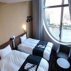 【デザイナーズトリプル・素泊まり】隅田川の見えるお部屋で3名まで利用OK!家族旅行にぴったり♪