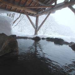 【年末年始は新高湯温泉でゆったり】絶景!秘湯でのんびり雪見風呂…スタンダードプラン【1泊2食】連泊も